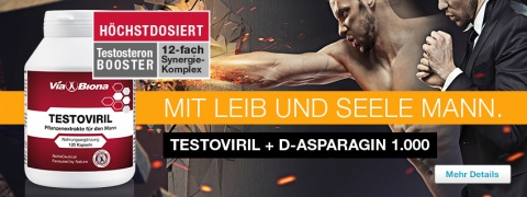 Testoviril max. + D-Asparagin 1.000 mg