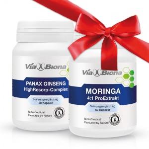 Viabiona PANAX Ginseng plus<br> Moringa 4:1 Pro-Extrakt